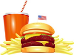 Hamburger and shake