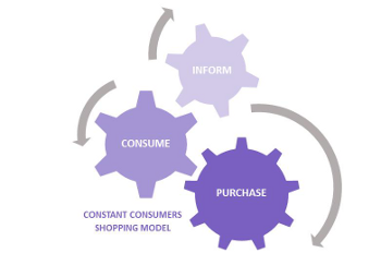 Constant consumer shopping behavior model